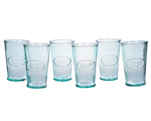 Amici Milk Glasses, 11 oz - Set of 6 (Vintage Water Glasses compare prices)