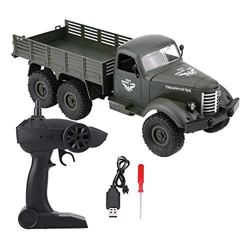 RCトラック オフロード車  2.4G 1:16 6輪駆動 大型 高速 滑り止め RCモデルカー 模擬モデル 軍用車両 軍隊ファン対応 JJRC Q60 2色(カーキ色・アーミーグリーン色)(グリーン)