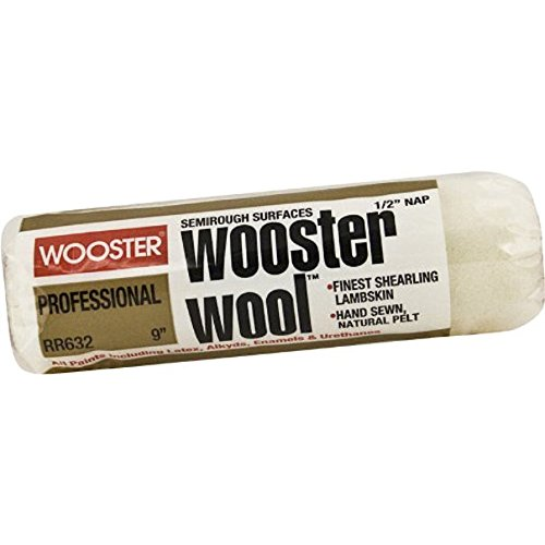 (Wooster Brush RR632-9 Wooster Wool Roller Cover 1/2-Inch Nap, 9-Inch)