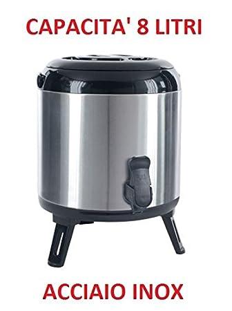 Dispensador Barril fermentador termo 8 litros de acero inoxidable con dispensador: Amazon.es: Hogar