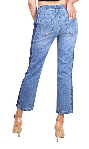Bootcut y Flare Jean Vaqueros Mujer Slim Chaqueta 2 Tejana TOXIK3 Minifalda de Skinny Denim Ix0w1
