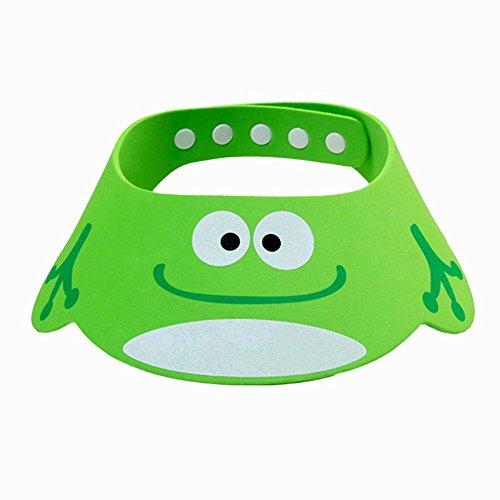 Bluelans® Kinder Baby Verstellbarer Shampoo Schutz Duschhaube Duschkappe Badekappe Ohrschutz Mütze Bath Shower Cap (Grün)