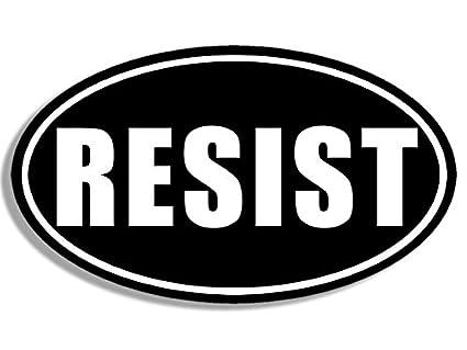 American vinyl oval resist sticker anti trump stop bumper resistance protest
