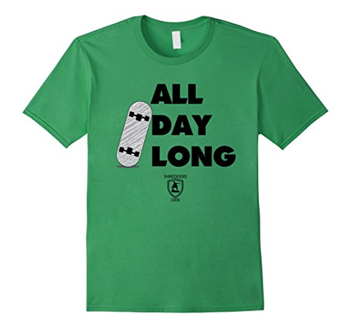 Men's All Day Long Skateboarding T-Shirt Medium Grass