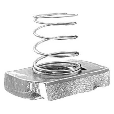 Channel Short Spring Nut, 1/2 in, PK25 by Materro