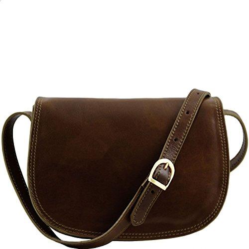 Marron Isabella Foncé Tuscany Sac bandoulière Marron Leather en cuir fWq61gw