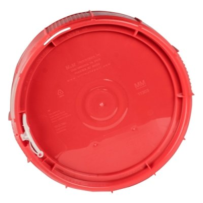 2.5 Gallon Life Latch New Generation High Density Plastic Tamper Evident Shipping Container with Red Lid (2 Containers)
