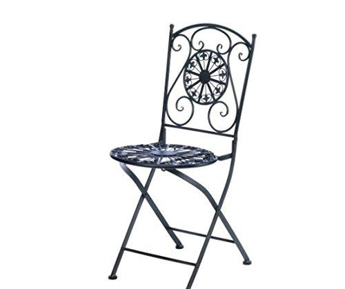 SKB Family Fleur-De-Lis Patio Chair Garden Iron Fruniture (Patio Fruniture)
