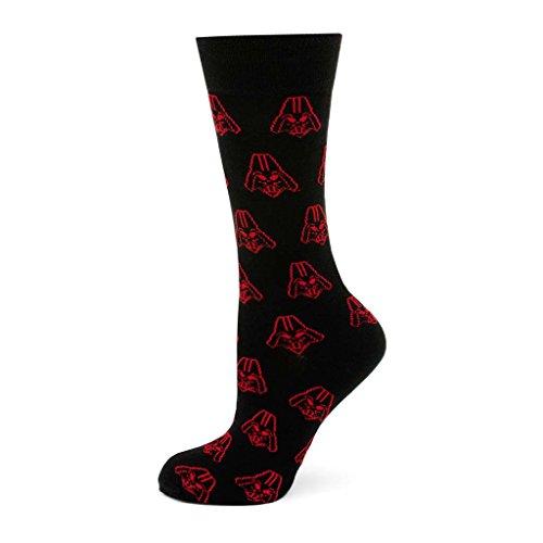 CUFFLINKS INC Darth Vader Black and Red Socks (Black)