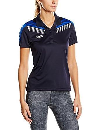 JAKO Pro Womens Polo Shirt Multi-Coloured Marine/Royal/Wei Size ...
