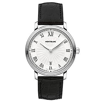 Montblanc Tradition Herren-Armbanduhr 40mm Armband Aligatorleder GehÄuse Edelstahl Batterie MB-112633
