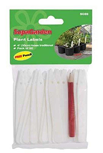 50 X Plant Labels + Pencils SupaGarden Plant Labels & Pencil (Pack of 50) VDTAZ012B