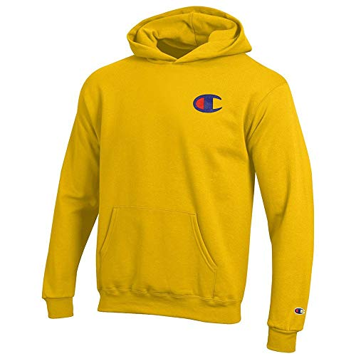 (Champion Reverse Weave Logo Youth (Champion Yellow) Powerblend Pullover)
