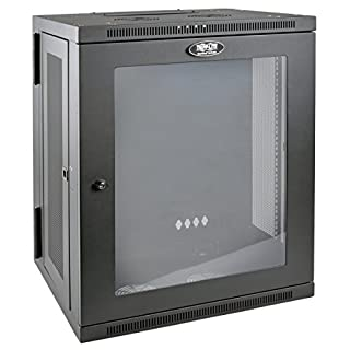 "Tripp Lite 15U Wall Mount Rack Enclosure Server Cabinet with Acrylic Glass Window, Hinged, 20.5"" Deep, Switch-Depth (SRW15USG) (B017YUBH1E) 
