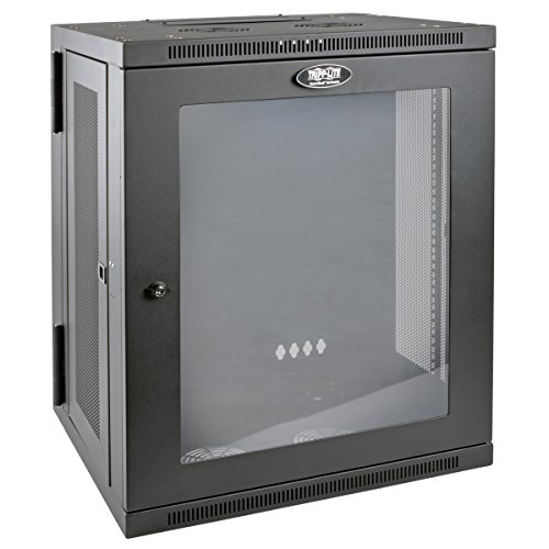 Tripp Lite 15U Wall Mount Rack Enclosure Server Cabinet with Acrylic Glass Window, Hinged, 20.5