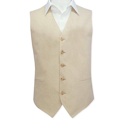 Linen 5 Button Vest