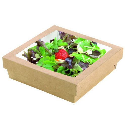 PacknWood 210KRAYB195 60 Oz. Small Kray Box With Window Base & Lid, Pack Of 200 by PacknWood