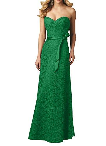 Kleider Spitze Abendkleider Brau Brautjungfernkleider Grün Herzausschnitt Abschlussballkleider Jugendweihe Traegerlos Damenmode La mia q8xRCw1