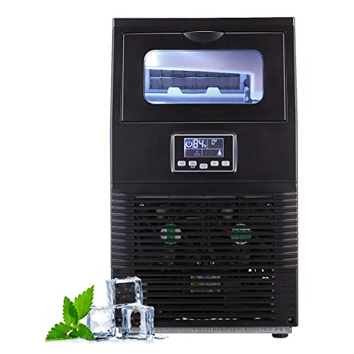 JAXPETY New Portable Ice Maker Machine w/LCD Display