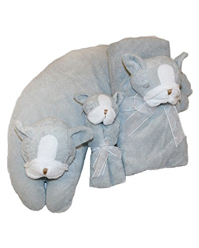 Angel Dear 3 Pcs Gift Set, Grey Bulldog by Angel Dear