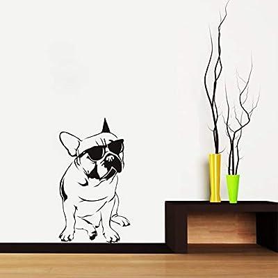 Ajcwhml Bulldog francés con Gafas de Sol Moda Perro Etiqueta de la ...