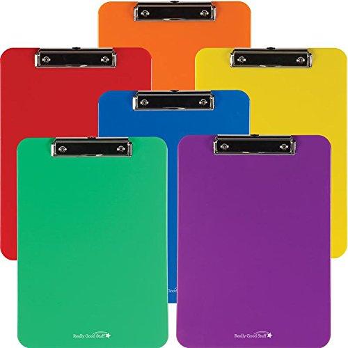 Really Good Stuff Clipboards (6 Clipboards, Rainbow)