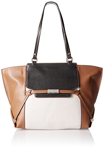 Nine West Tied and True Bag, Tobacco/Milk/Black/Black, One Size