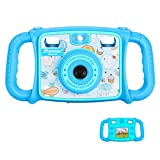 """Drograce KD200 Kids Camera Creative Camera 1080P HD Video Recorder Digital Action Camera Camcorder for Boys Girls Gifts 2.0"""" LCD Screen with 4X Digital Zoom and Funny Game(Blue)"""