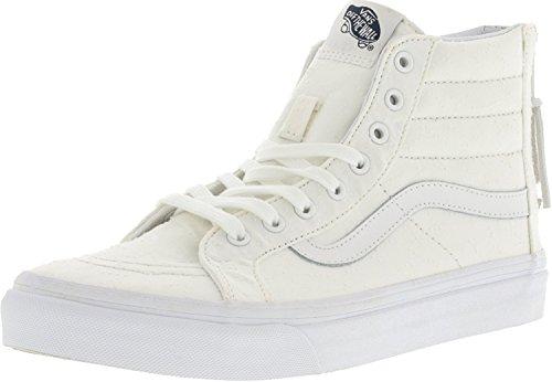 Bestelwagens Unisex Busjes Sk8-hi Slim Zip Sneaker True Wit / True White