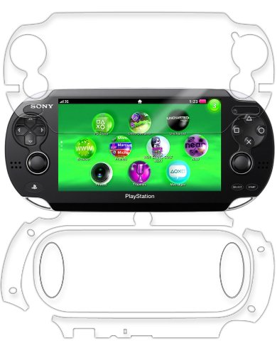 Sony Playstation PS Vita Screen Protector + Full Body, Skinomi® TechSkin Full Coverage Skin + Screen Protector for Sony Playstation PS Vita Front & Back Clear HD Film