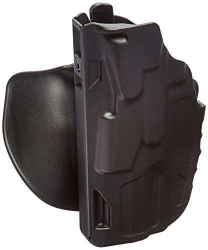 [Safariland 7378 7TS ALS Paddle & Belt Slide Concealment H&K VP9 Holster, Plain Black, Left] (Concealment Belt Slide Holster)