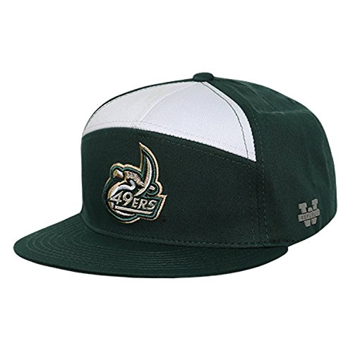 - University of North Carolina Charlotte 49ers NCAA 7 Panel Flat Bill Snapback Baseball Cap Hat