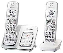 Panasonic KX-TGD532W Cordless Phone with Answering Machine - 2 Handsets (Renewed)