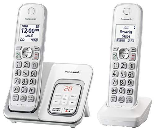 Panasonic KX-TGD532W Cordless Phone with Answering Machine - 2 Handsets (Renewed) (Panasonic Receiver)