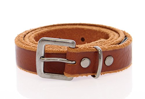 Dolce & Gabbana Brown Leather Logo (Gabbana Designer Belts)