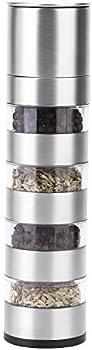 RONRI 4 in 1 Stainless Steel Salt & Pepper Grinder