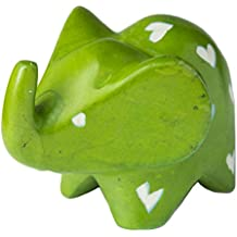 Soap Stone Big Ears Elephant Green