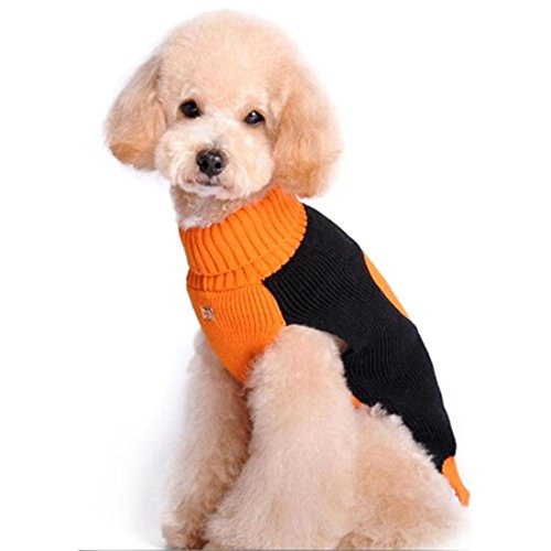 Pets Halloween Costumes Puppy Dog Costumes Dressing Up Party, Festival Warm Sweater Knitwear Halloween Pumpkin (Lilo And Stitch Dog Costume)