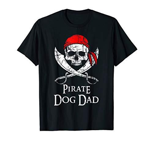 (Pirate Dog Dad Family Jolly Roger Skull)