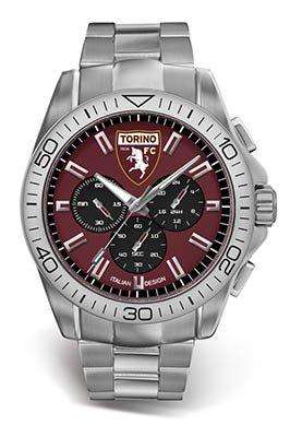Herrenuhr Offizielle FC Torino Stahl Chronograph t0412ur1