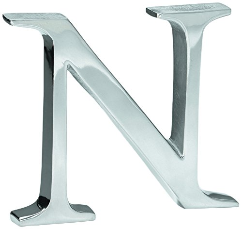 KINDWER Aluminum Letter, 6-Inch, Monogrammed Letter N by KINDWER