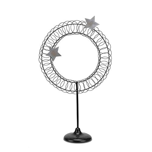 Redrock Traditions Wreath Shaped Close to Our Hearts 26.5 inch Metal Table Top Card Holder