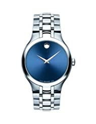Movado Men's Collection Swiss Movement Stainless-Steel Blue Dial Watch 0606369