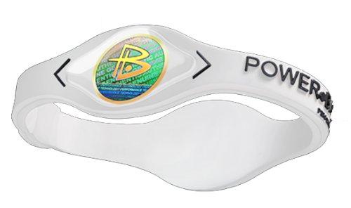 Power Balance Wristband Clear with White Medium (Power Balance White Small)