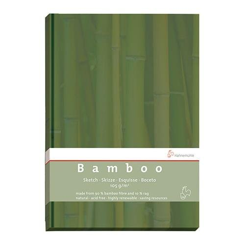 Hahnemuhle 105gsm A5 Bamboo Sketch Book, 64 Sheets/128 Pages, Green Cover