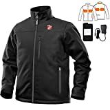 Heated Jacket for Men with 5 Heated Zone, 7.4V Battery, Passed UL Certification