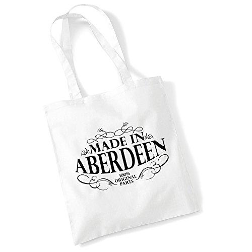 Impresos Regalos Hechas Blanco De Asas Bolso Las Algodón Del Comprador Aberdeen Bolsas Del Mujeres En De Las Para xYvnzwnqT