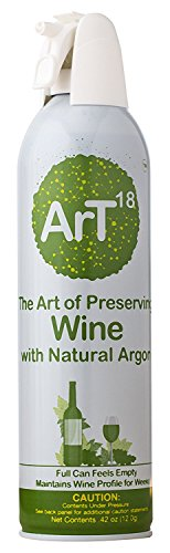 ArT Wine Preserver | Argon Wine Saver Plus Wine Stopper | Up To 130 Uses