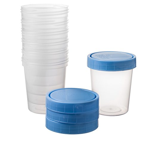 25 Vakly 4oz Specimen Cups With Screw On ()
