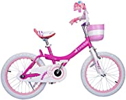 RoyalBaby Girls Kids Bike Jenny Bunny 12 14 16 18 20 Inch Bicycle for 2-12 Years Old Child's Cycle with Basket Training Whee